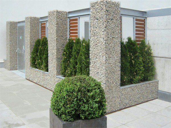 gabion de jardin en forme de colonnes ext rieur cloture pinterest forme de forme et. Black Bedroom Furniture Sets. Home Design Ideas