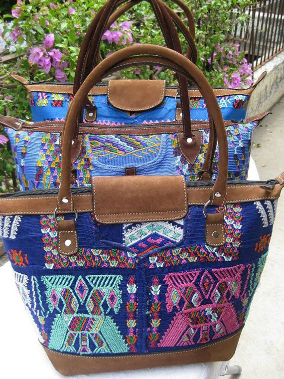 Beautiful Shoulder Bag Made From A Guatemalan Authentic Vintage Chajul Huipil Textile