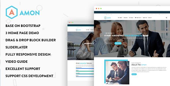 Amon Responsive Business Drupal 8 5 Theme Drupal Responsive Website Template Free Website Themes