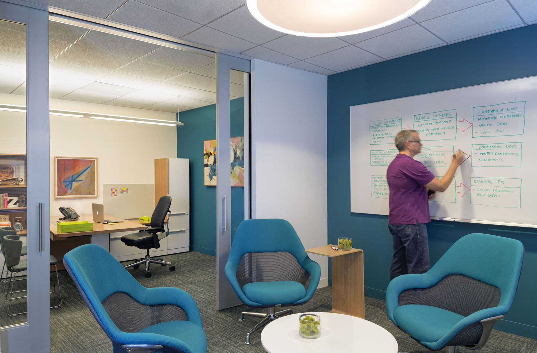 Inside kaiser permanente   ithrive collaborative office prototype also tour rh pinterest