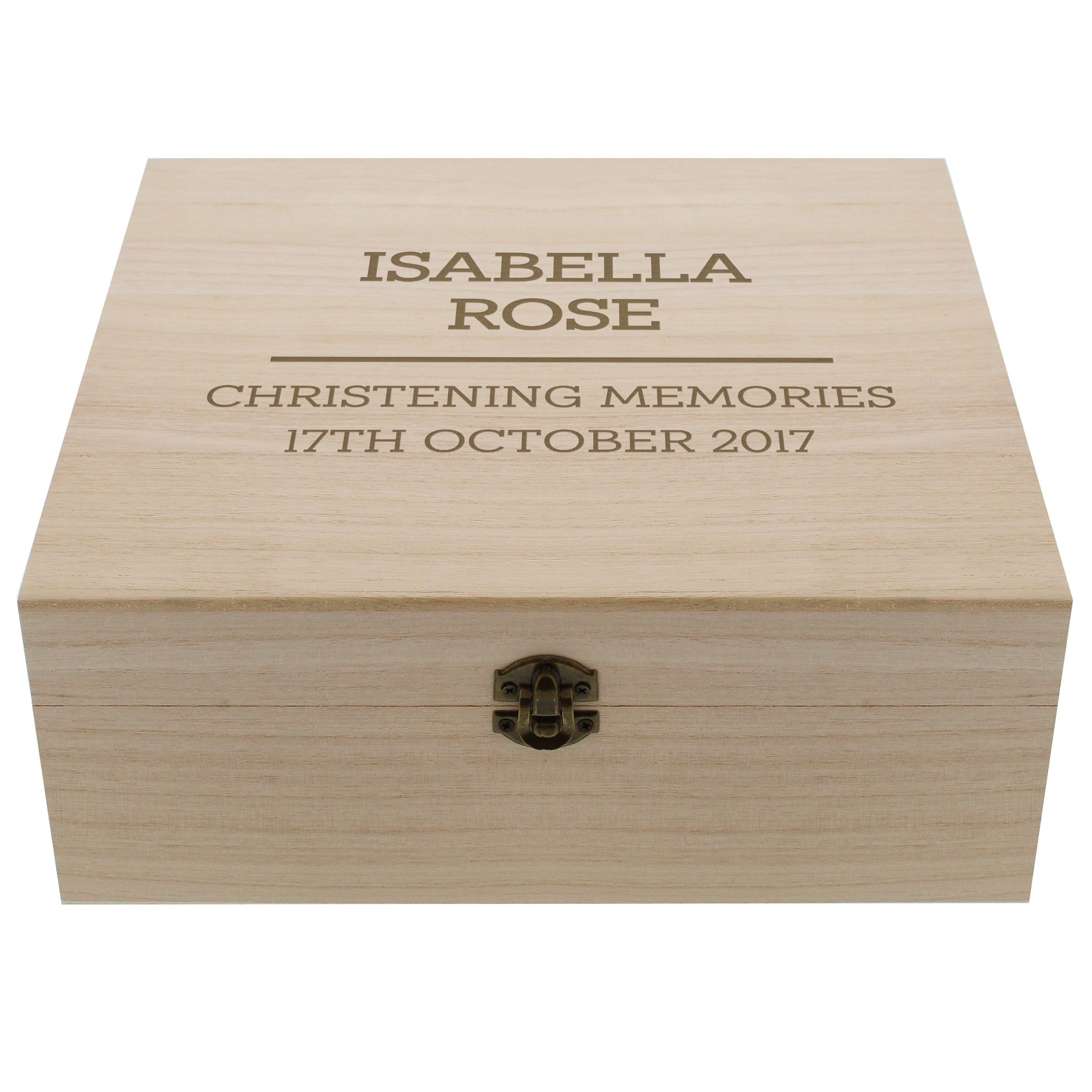 Personalised Any Message Large Wooden Keepsake Box In 2019