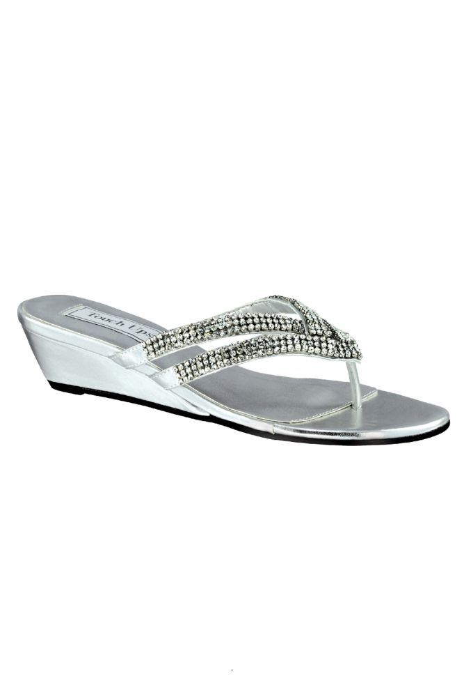cdbaf0913454 Tango Low Wedge Crystal Sandals Women s