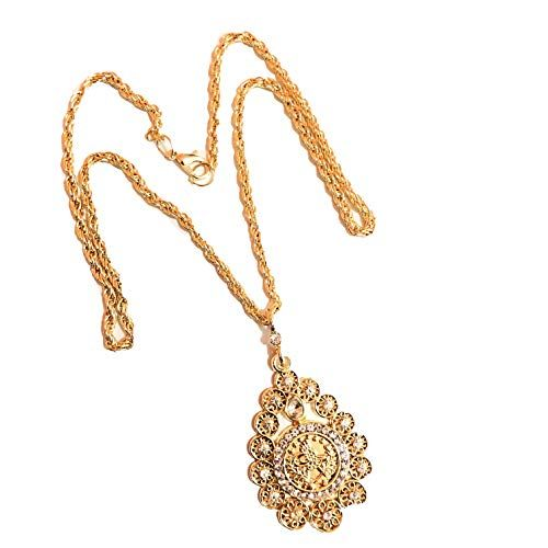 Tugra Kette Gold Münze Halskette Osmanli Taki 22 Karat GP Altin Kaplama Gelin