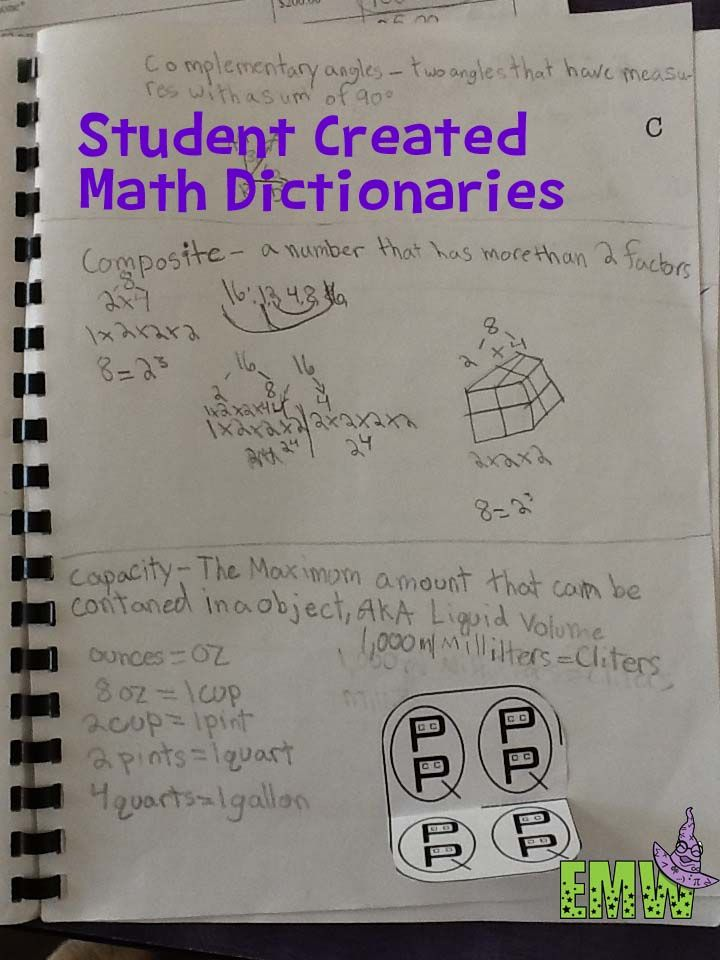 Student Created Math Dictionaries   Pinterest   Math, Students and ...