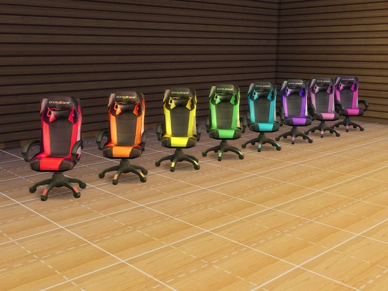 DXRacer gaming chair made into CC for all those gamer Sims out there