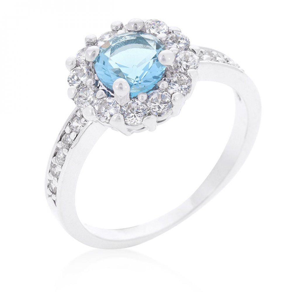 Bella Birthstone Engagement Ring In Blue