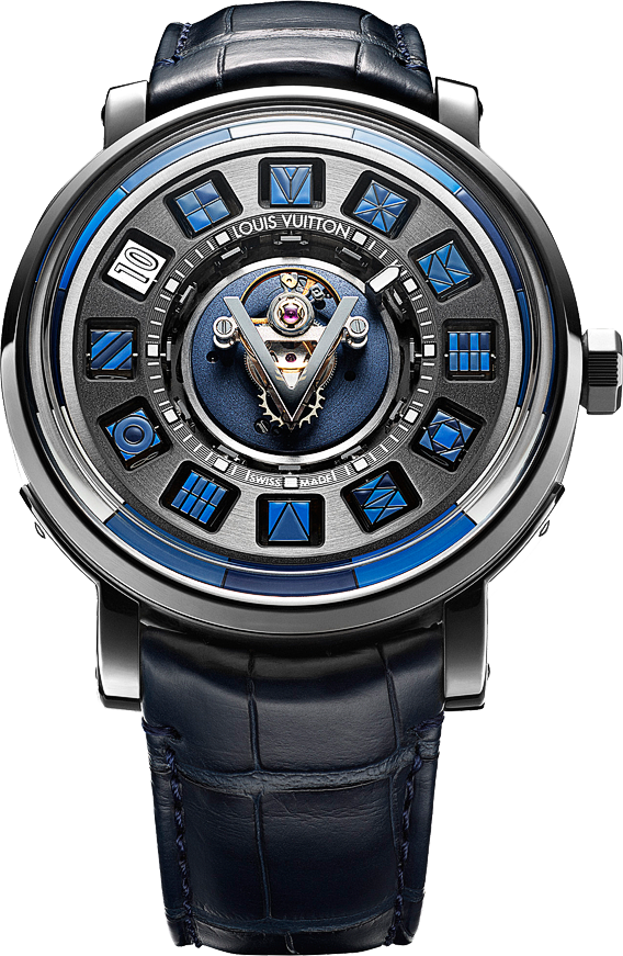 Louis Vuitton Escale Spin Time Central Tourbillon Blue - Perpetuelle ... ea84687ec5b