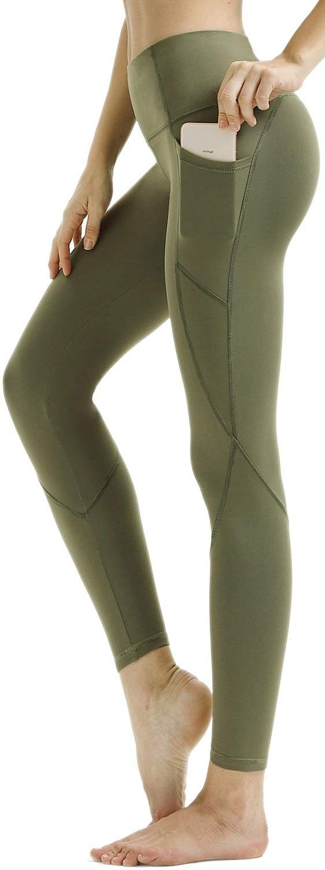 Women's Premium Yoga Pants with Pockets - Non See-Through Tummy Control 4 Way Stretch High Waist Leg...