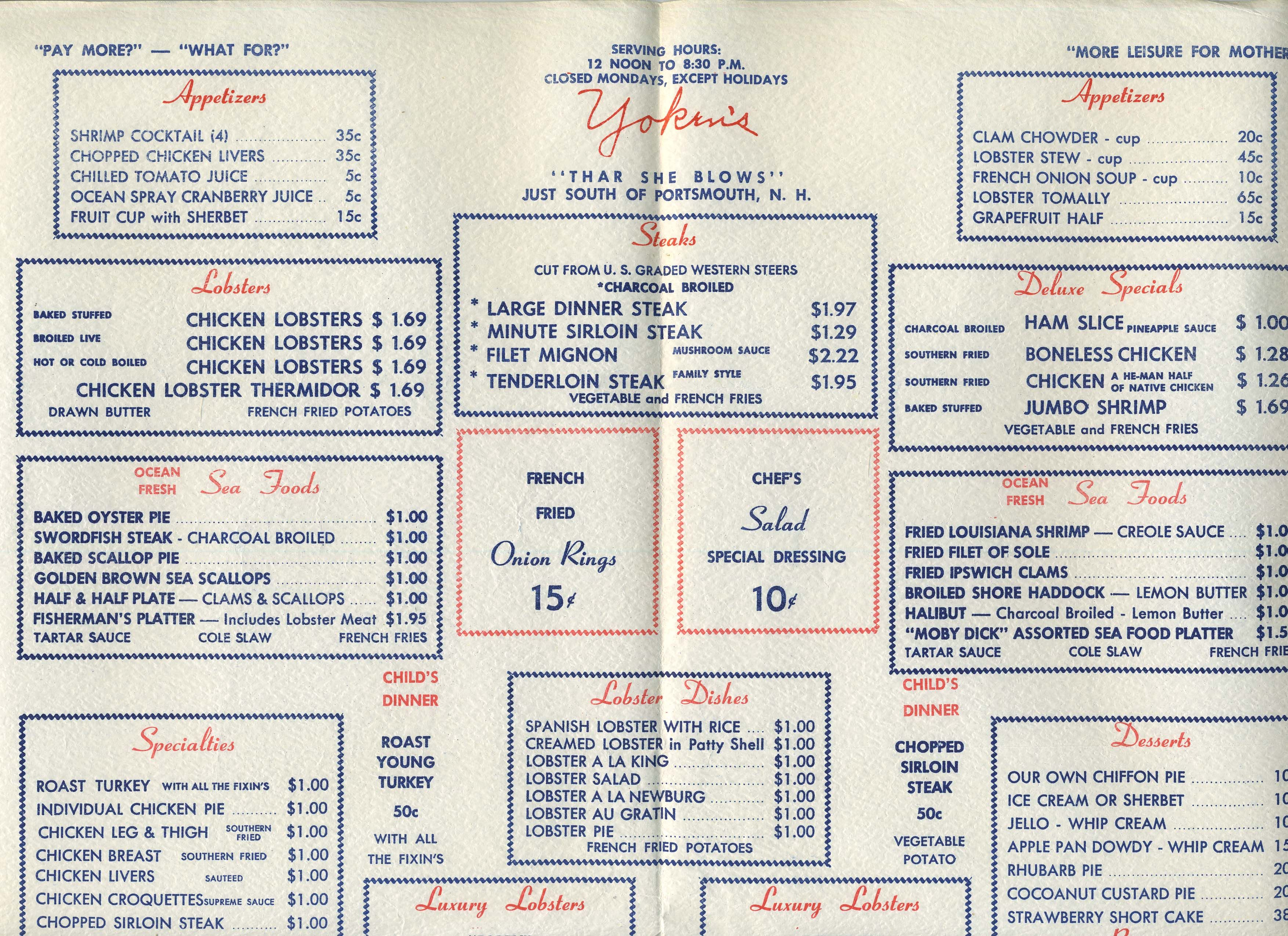 1950s menus - Google Search | Vintage Menus | Pinterest | Menu and ...
