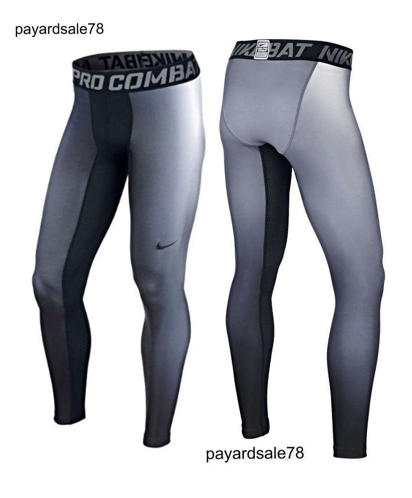 25c1536d9f420 NEW MEN'S LARGE NIKE PRO COMBAT DRI-FIT MAX HYPERWARM PANTS TIGHTS  COMPRESSION #Nike #BaseLayers