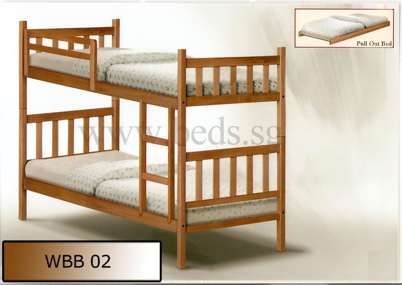 Solid Wood Double Deck Bed WBB02 | Furniture & Appliances ...