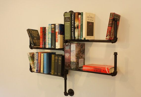 Two Tier Bookshelf With Four Shelves