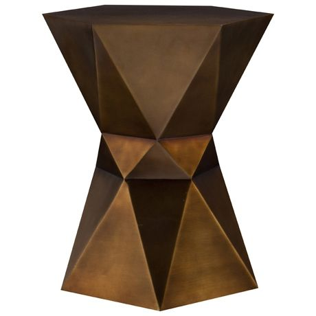 Mrs Johnson Side Table in Antique Brass Plated NEW Introductory price $229 - Freedom Furniture Australia #facets