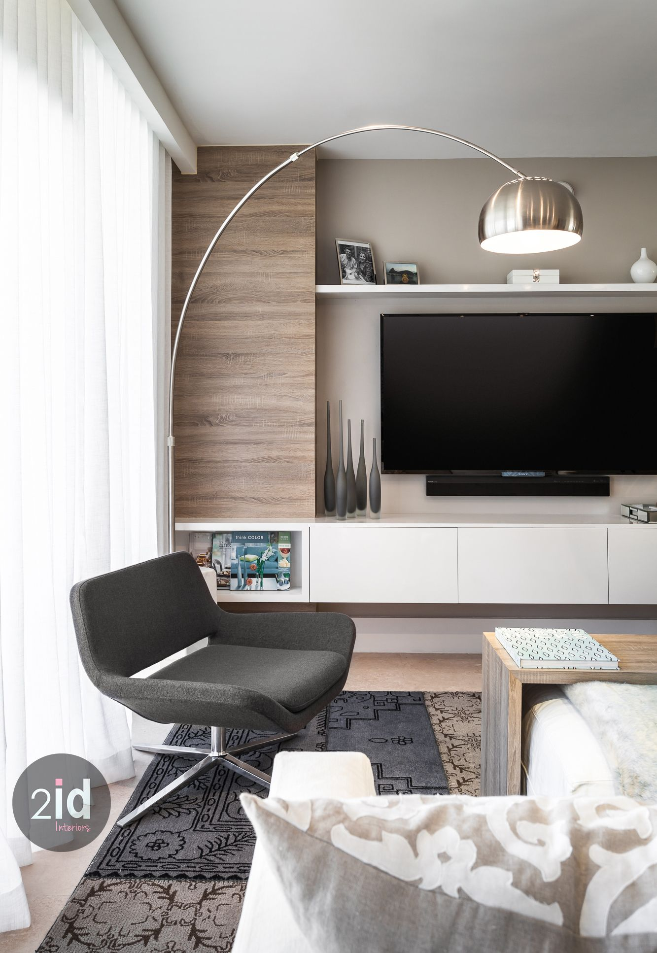 Modern Cozy Warm Contemporary Living Room Detail Wood And White