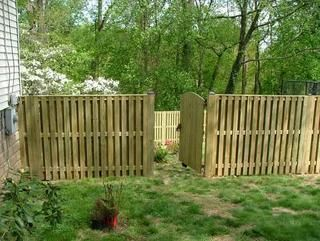 8 Pressure Treated Pine Board On Board Fence Using 1x4 Boards Privacy Fences Outdoor Living Fence