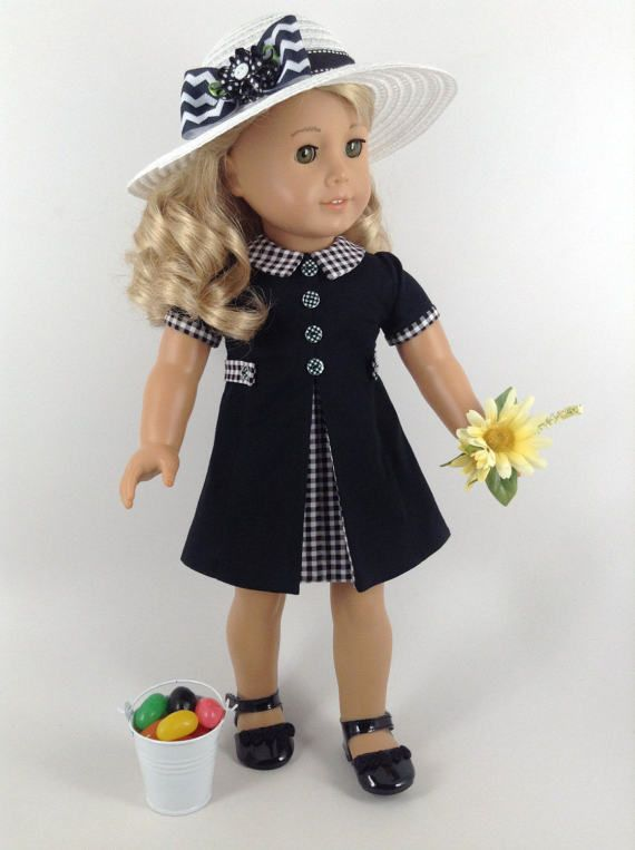 American Girl 18-inch Doll Clothes - 1960\'s Style Dress & Hat   AG ...