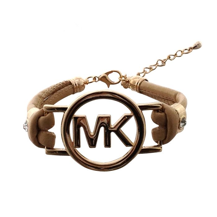 Michael Kors Skinny Logo Chain Beige Accessories Outlet
