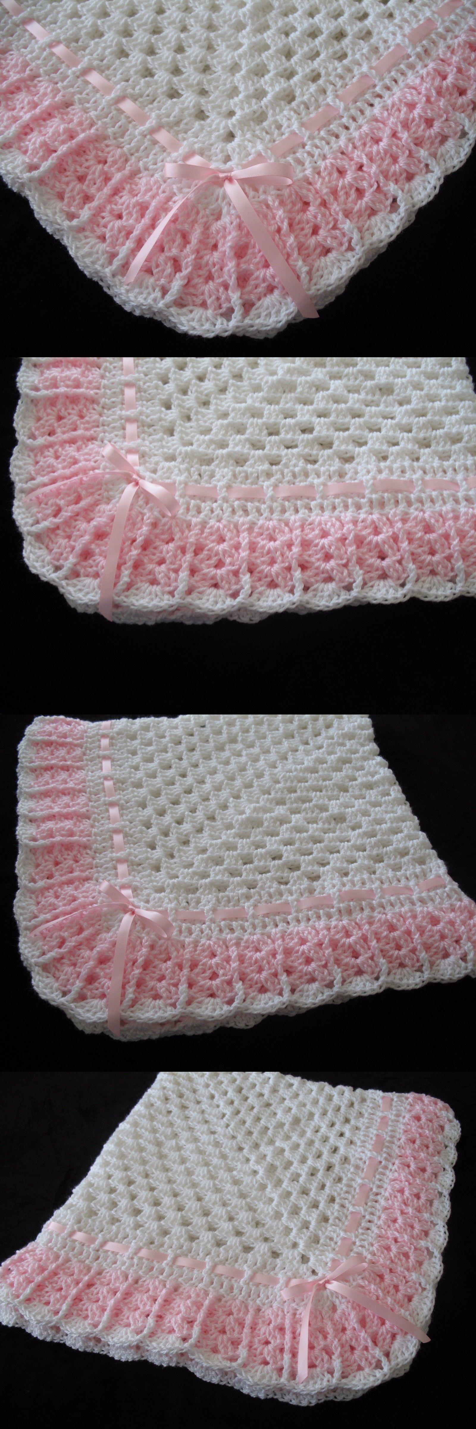 Perfecto Medio Patrón Manta Crochet Doble Cresta - Manta de Tejer ...