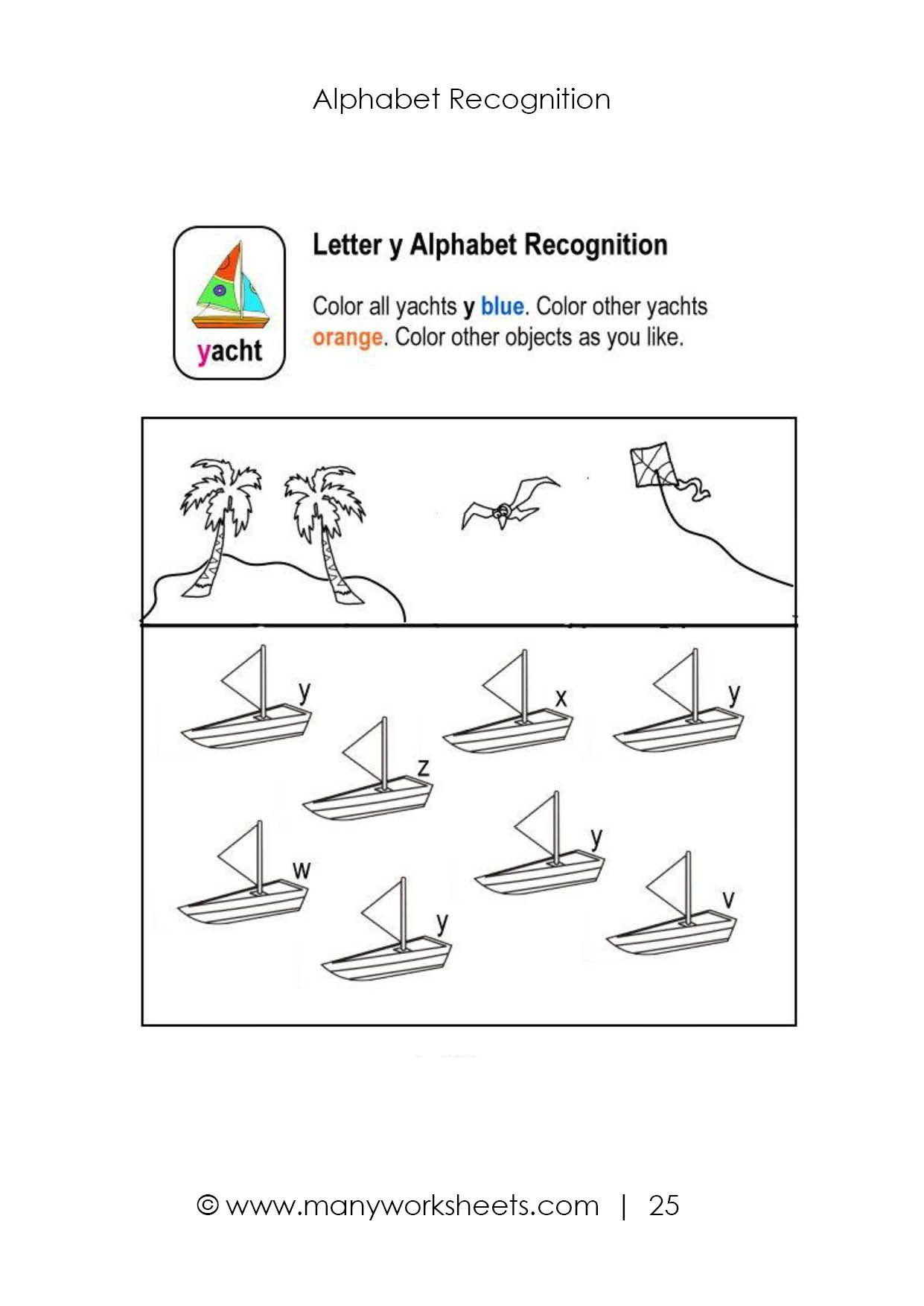 Y Worksheets For Kindergarten Letter Y Worksheet In