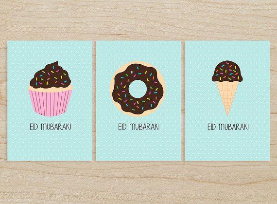 3 Printable Eid Mubarak Cards By Sanatcraft On Etsy 6 00 Amplop