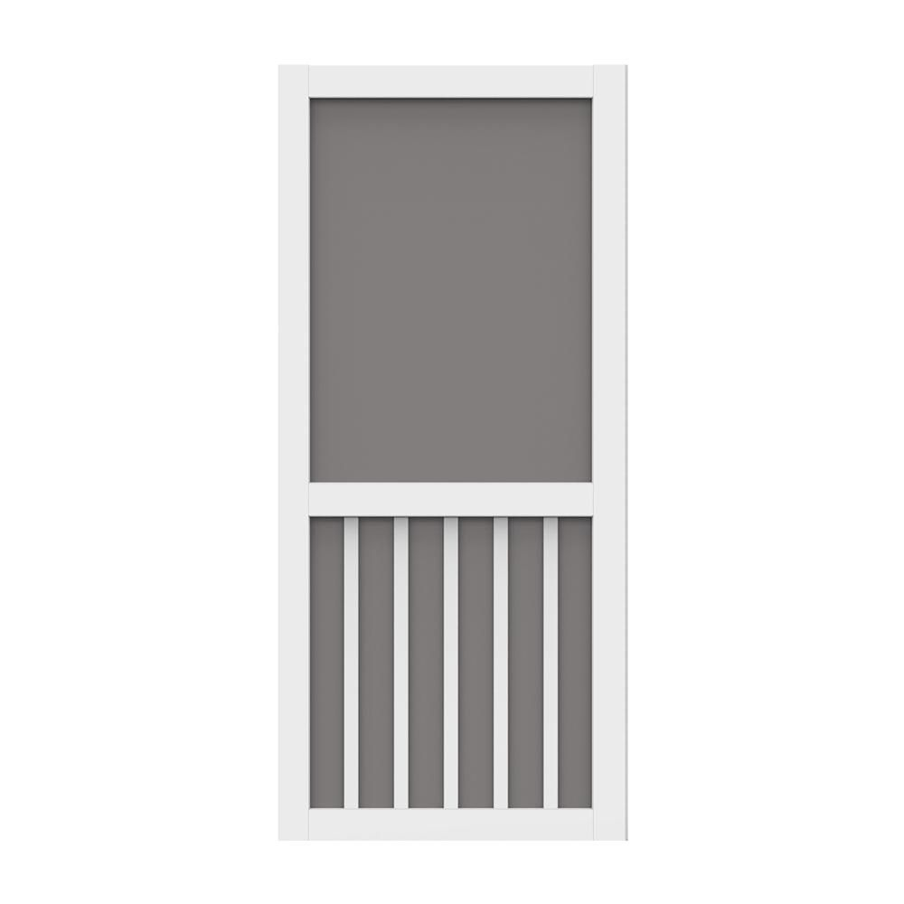 Screen Tight 36 In X 80 In Solid Vinyl White Screen Door With