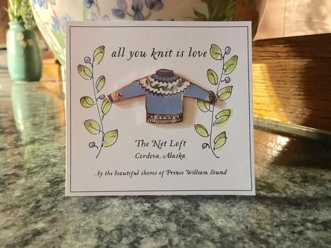 All You Knit is Love, Heart on my Sleeve Enamel Pin - The Net Loft Traditional Handcrafts