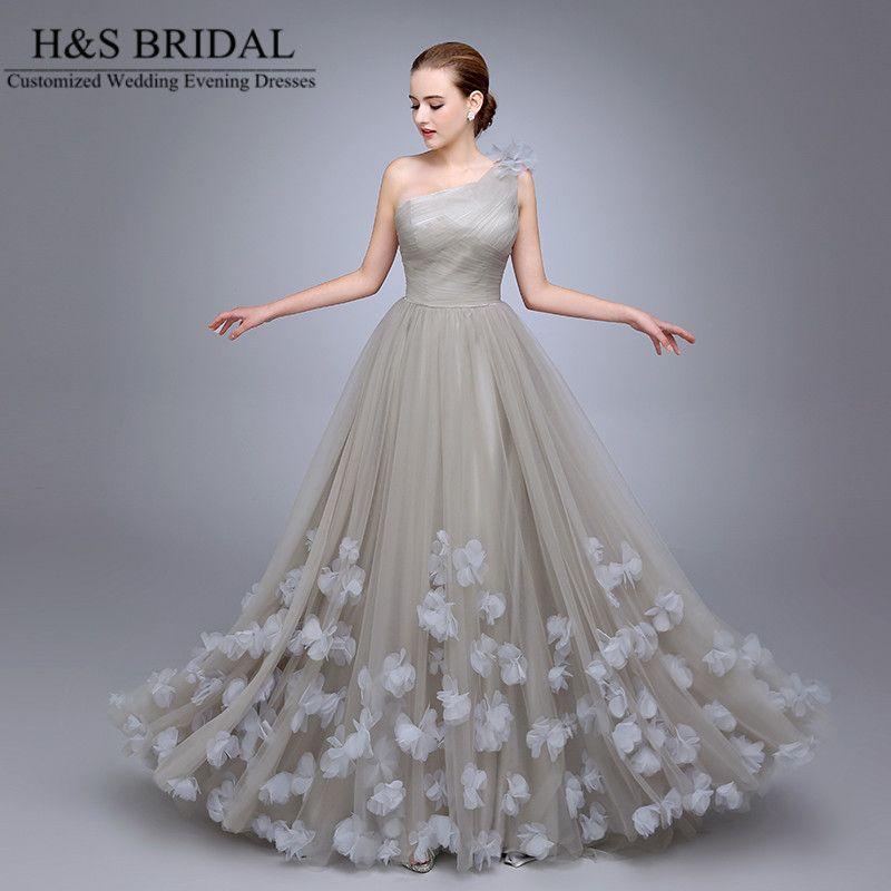 HS11 One Shoulder Ladies Popular Evening Dress A Line robe de ...