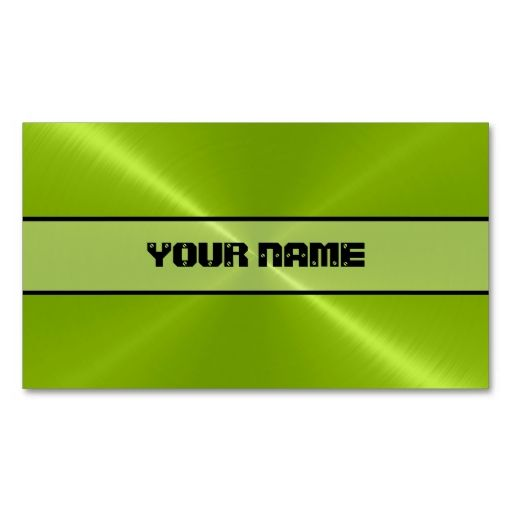 Green shiny stainless steel metal business card template this is a green shiny stainless steel metal business card reheart Image collections