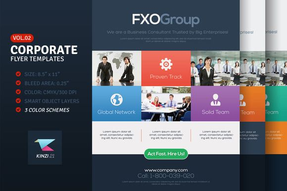 Check out Corporate Flyer Templates Vol02 by kinzi21 on Creative - corporate flyer template