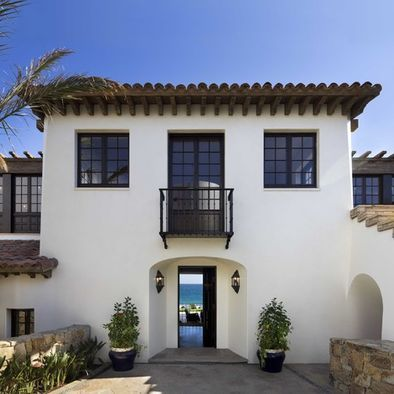 Best White Stucco Clay Roof Tiles Black Paned Windows Modern Mediterranean Homes White Stucco 640 x 480