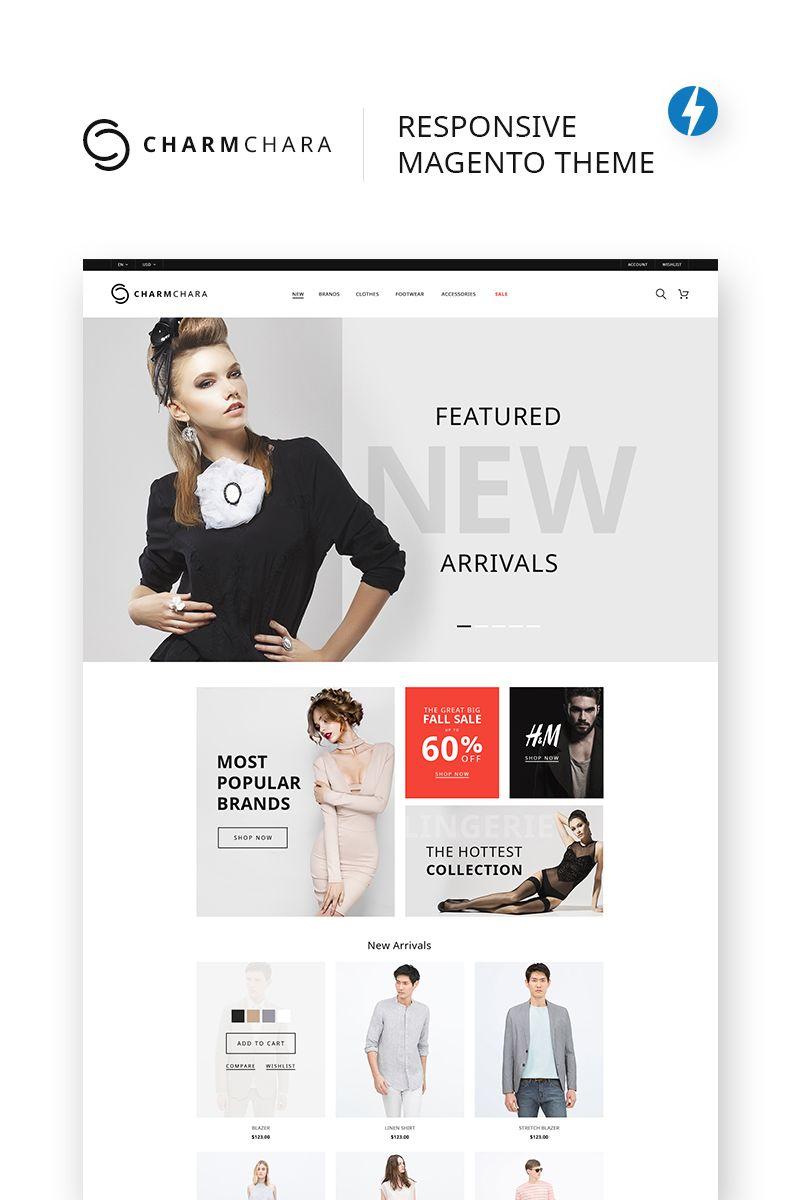 Charmchara Fashion Store Magento Theme 68461 Fashion Web Design Magento Themes Ecommerce Web Design