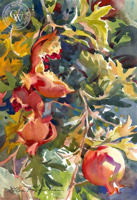 Winter Morning Watercolor Landscape Paintings Landscape