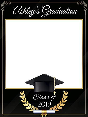 48x36; Personalized College or University Degree Photo Frame Class of 2019 Custom Home Decor Graduation Photo Booth Frame Prop Handmade DIY Party Supply Photo Booth Props Size 36x24