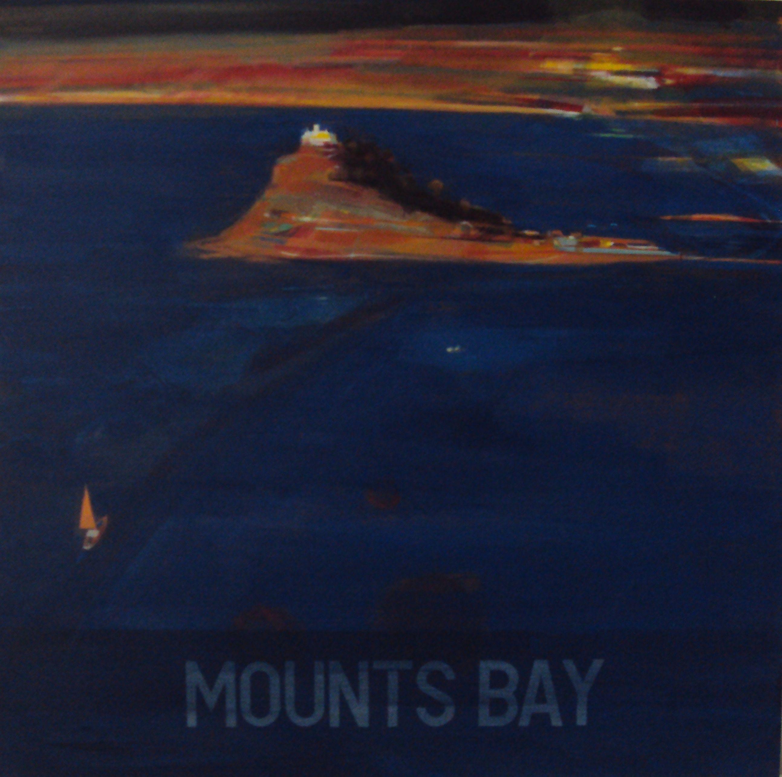 Alasdair Lindsay, Mounts Bay Autumn, 90 x 90cm, acrylic on