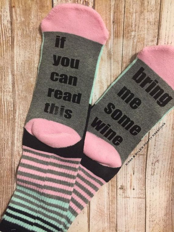 If You Can Read This Socks Bring Me Wine Or Beer In Several
