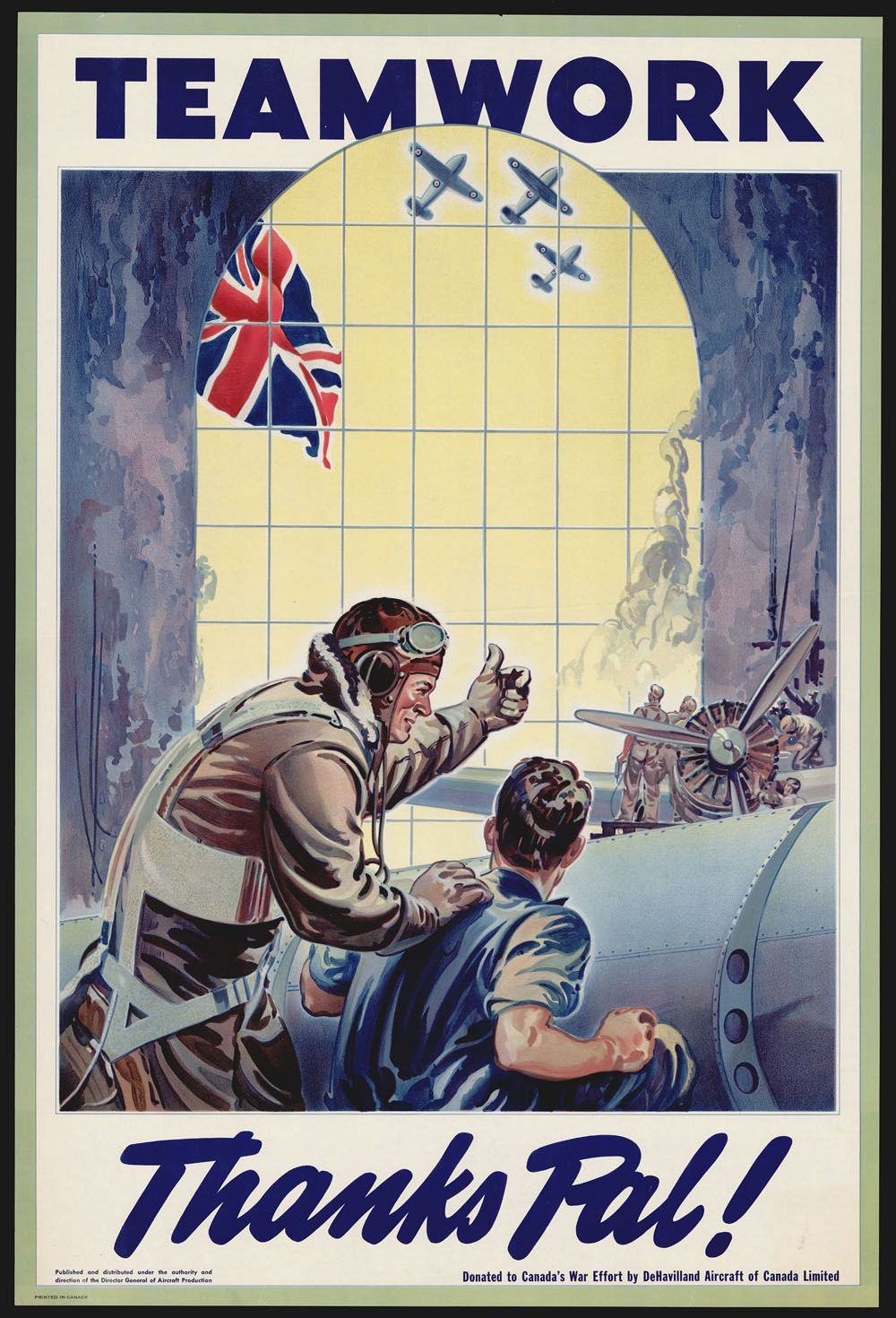 Vintage Print WWII POSTER The Man Hitler Fears Most American Bomber Pilot