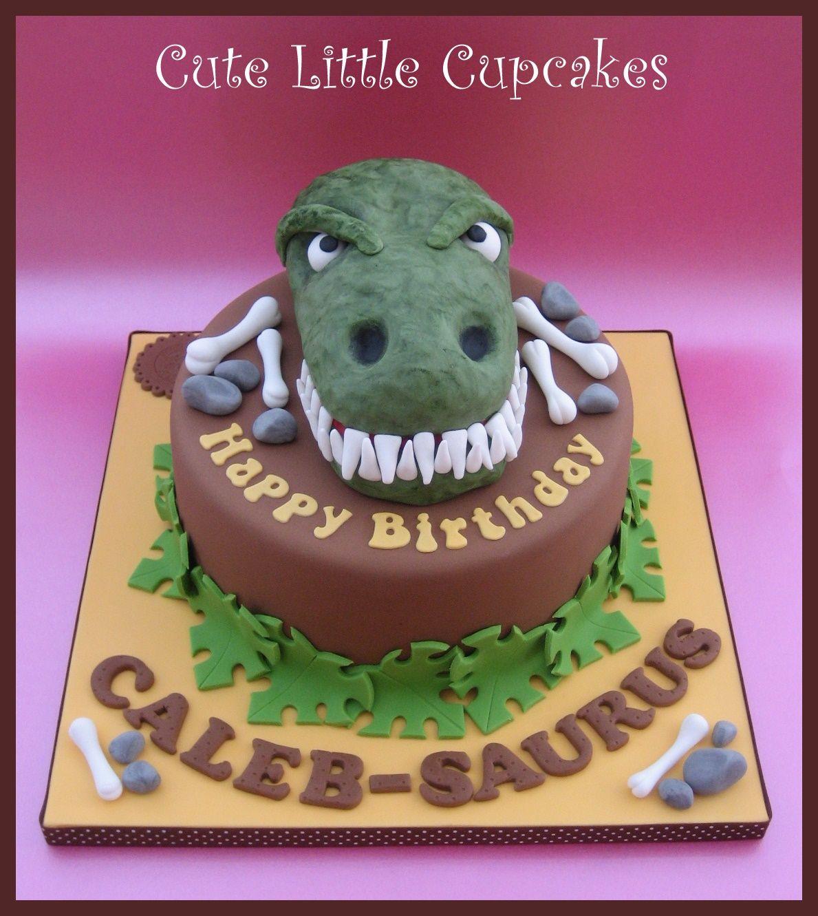 TRex themed dinosaur cake x gateau dinosaures Pinterest