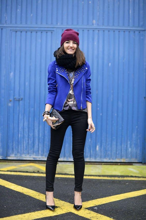 blue studded   FashionLovers.biz