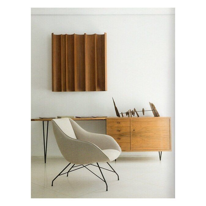 Carlo Hauner (1927-1997) and Martin Eisler (1913-1977) were the primary  designers for the iconic Brazilian furniture company Forma.
