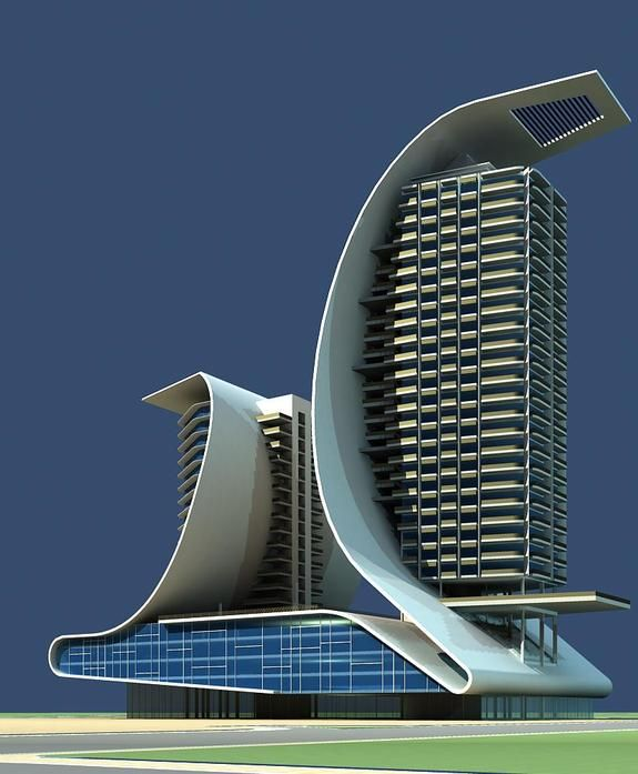 Architecture 510 hotel building 3d model