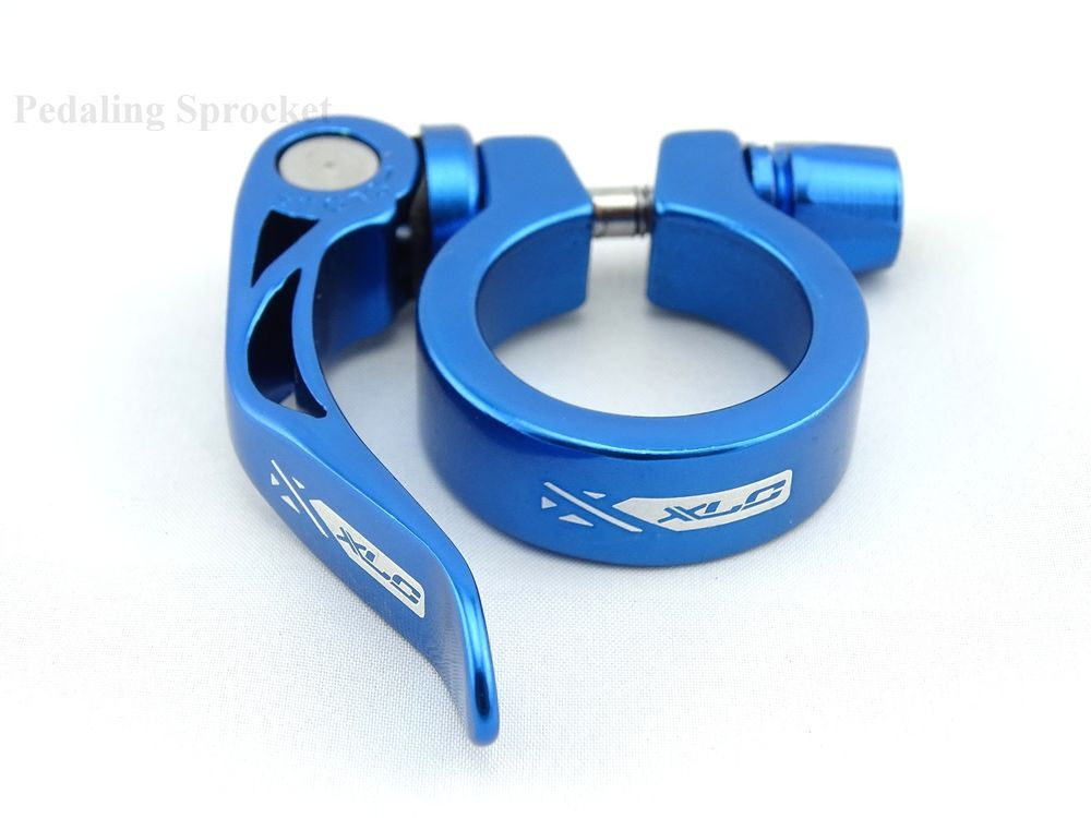 Xlc 31 8mm Alloy Quick Release Bicycle Seatpost Clamp Blue Qr Bike
