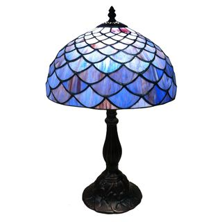Corsica 30 Inch Clear Glass French Neck Table Lamp Tiffany Style Table Lamps