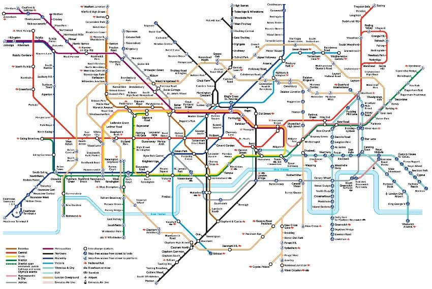 Londin Tube Map U tube, Londin | Travel | London tube map, Underground map, London
