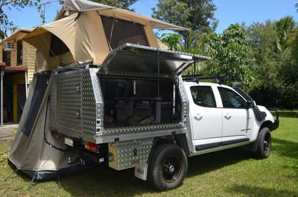 Colly Kid My Rg With Canopy And Rooftop Tent Added Australian 4wd Action Roof Top Tent Slide In Camper Ute Canopy