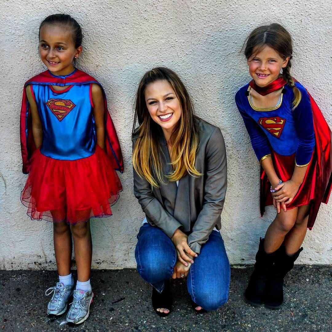 mehcadbrooks: Supergirl cast met some #supergirls. So inspiring being around real #superheroes at the Naval Base in Coronado. #shouts4troops #supershirtseries @supergirlofficial