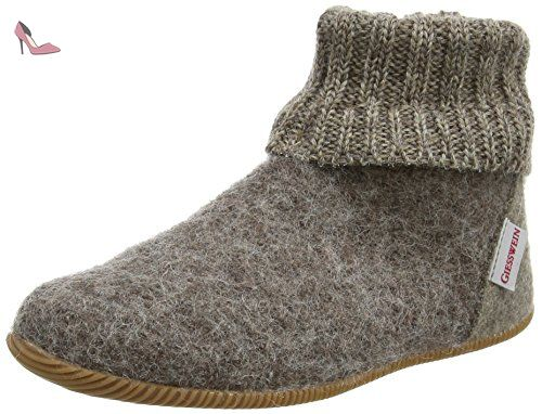 Wildpoldsried, Chaussons Montants Mixte Enfant, Gris (Taupe 262), 40 EUGiesswein