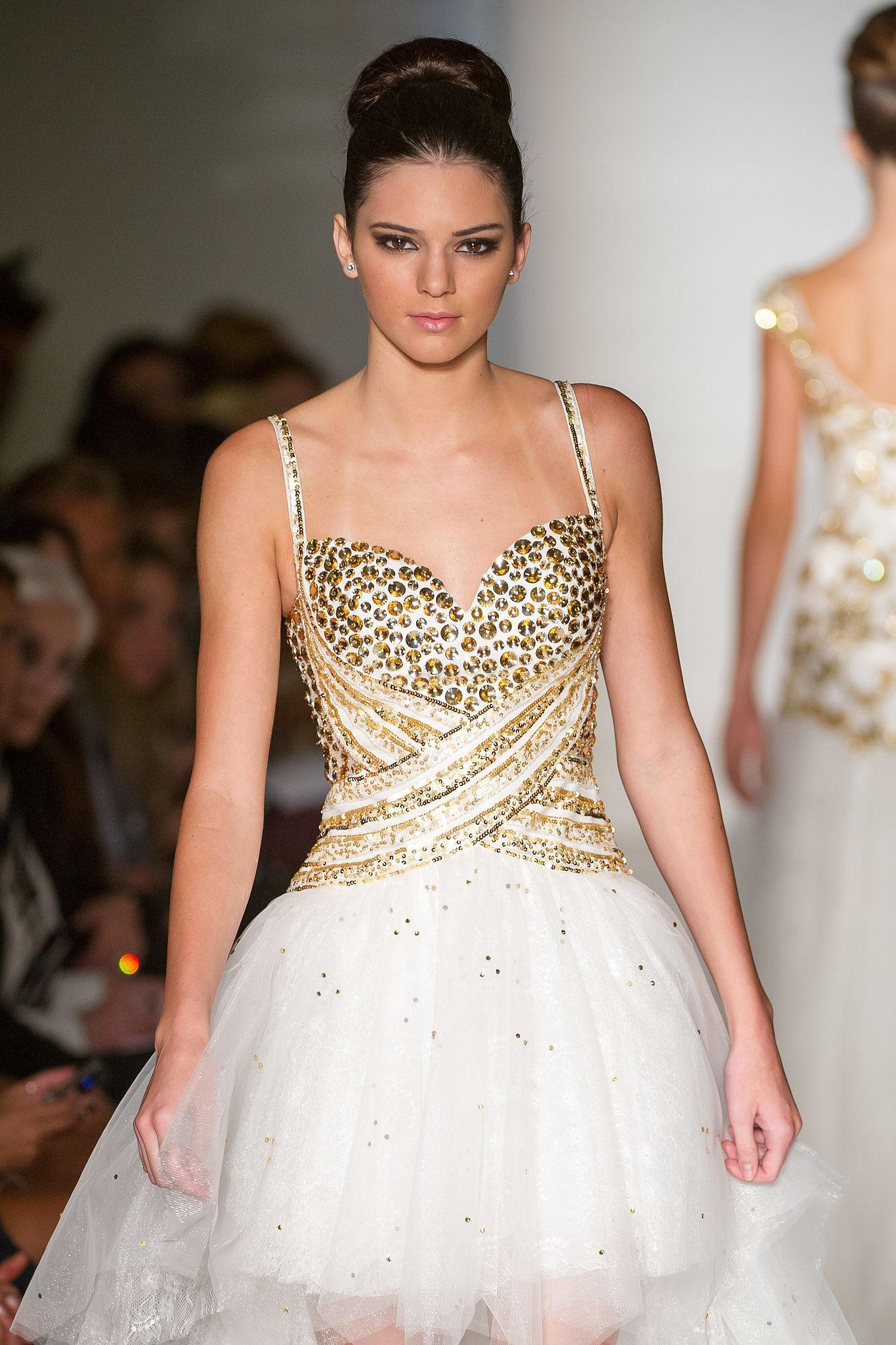Kendall Jenner walks walks the runway at the Evening