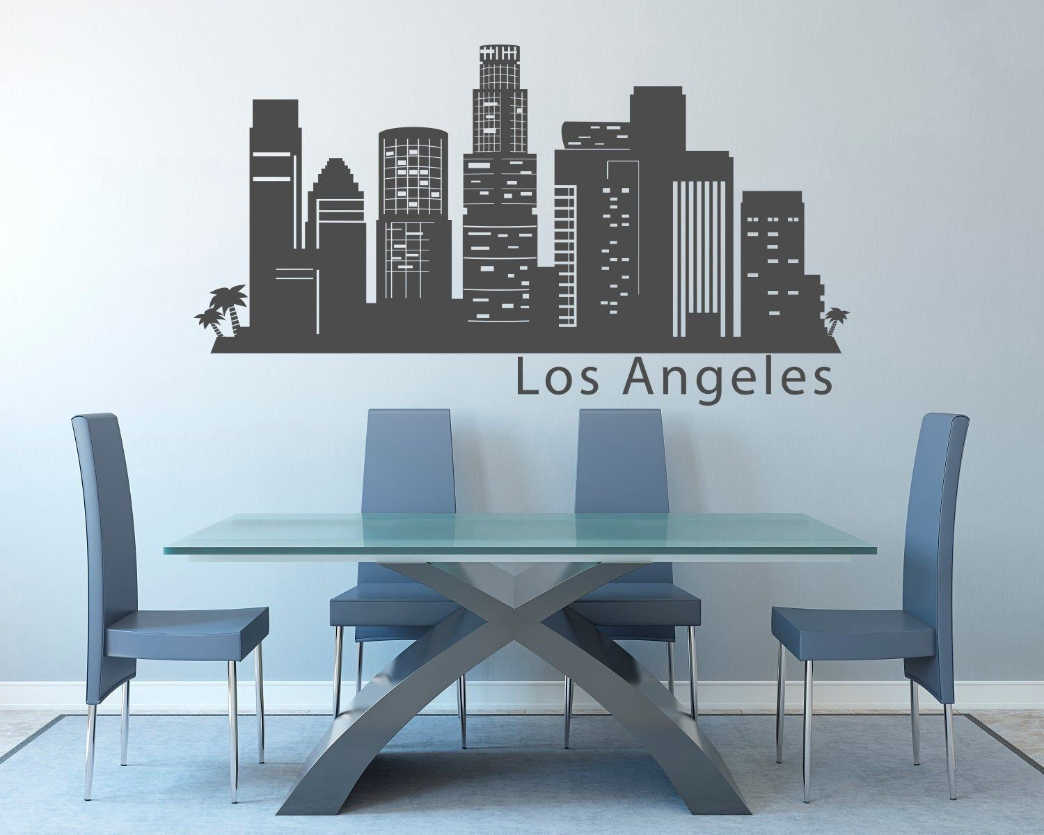 Los Angeles California Skyline Wall Decal Sticker Art Vinyl Etsy In 2020 Wall Decal Sticker Sticker Art Wall Decals