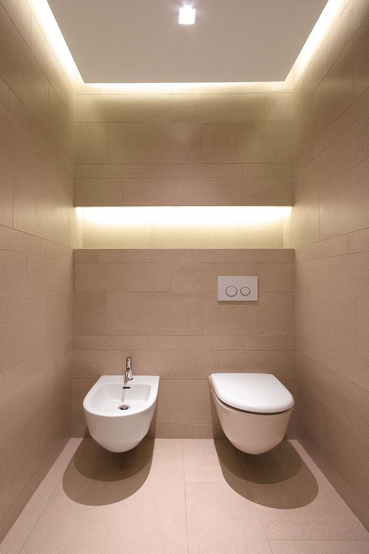 Me gusto detalle de iluminaci n en la pared maybe bano de visita ba os pinterest ba os - Wc model ...
