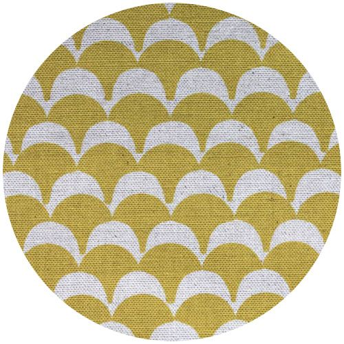 Ellen Luckett Baker For Kokka Stamped Scallops Yellow With Images Fabric Stamping Japanese Fabric Fabric Store